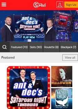 32Red Casino Mobile Screenshot