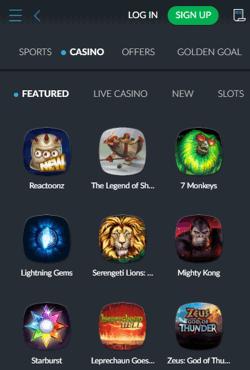 BetVictor Casino Mobile Screenshot