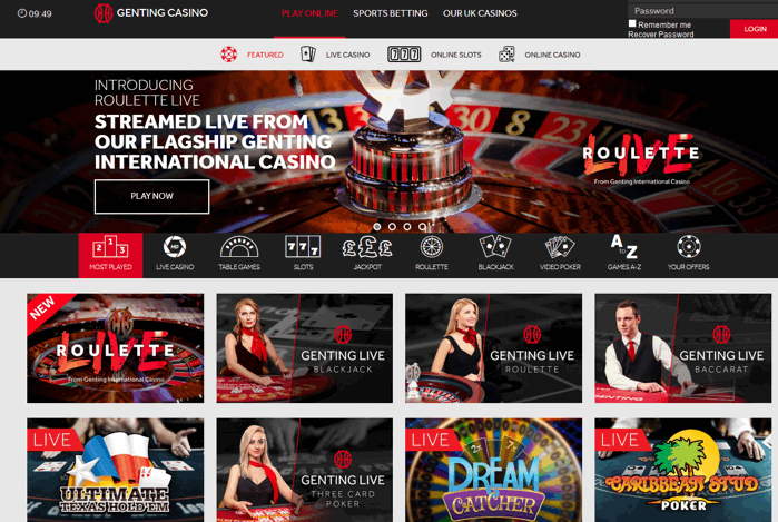 Genting Casino Screenshot