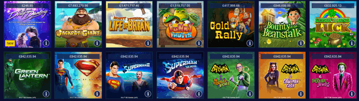 William Hill Casino Games Screenshot