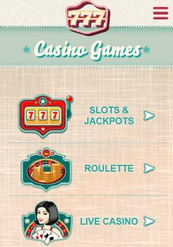 777 Casino Mobile Screenshot