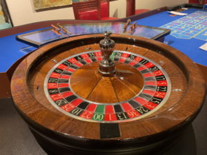 american roulette wheel on a cruise ship