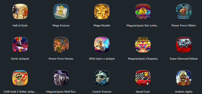 BetVictor Casino Games Screenshot