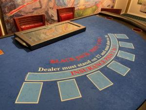 blackjack table on a cruise ship