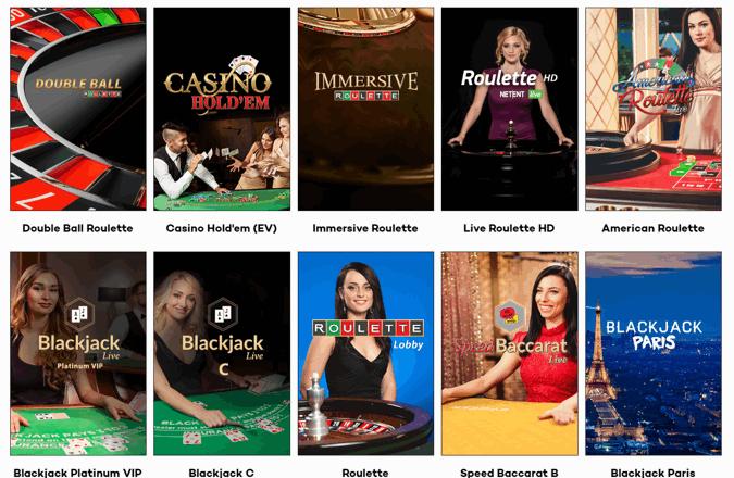 highroller casino games