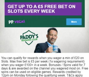 paddy power slots reward club