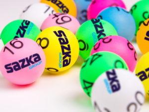 sazka logo on lotto balls