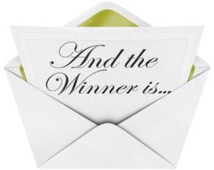 winner prize envelope